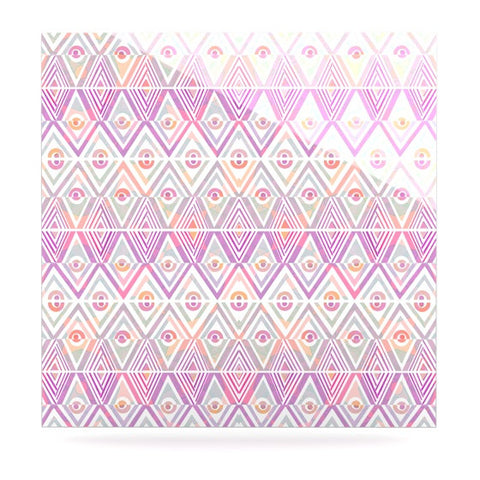 "Pom Graphic Design ""Soft Petal Tribal"" Luxe Square Panel - KESS InHouse  - 1"