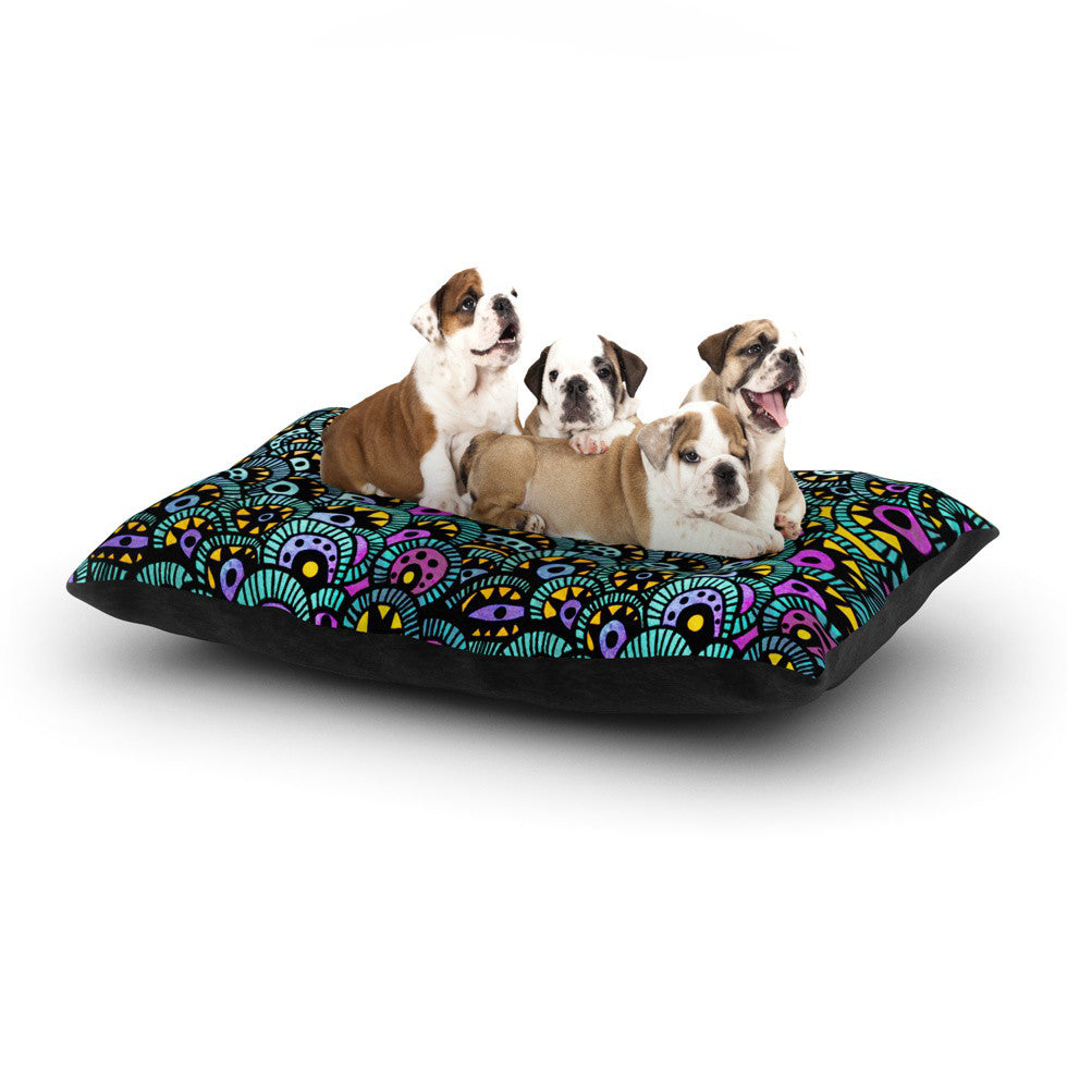 "Pom Graphic Design ""Peacock Tail"" Dog Bed - KESS InHouse  - 1"