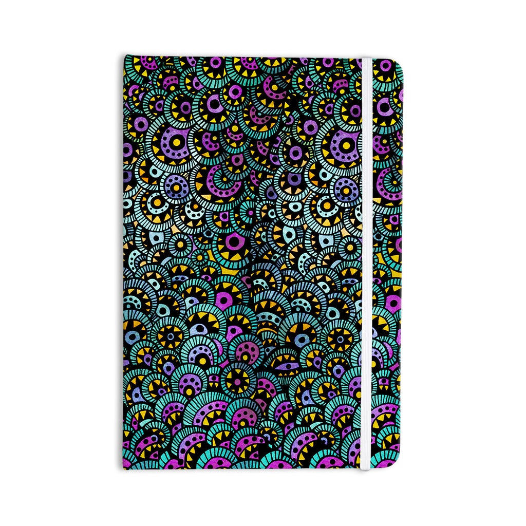 "Pom Graphic Design ""Peacock Tail"" Everything Notebook - KESS InHouse  - 1"