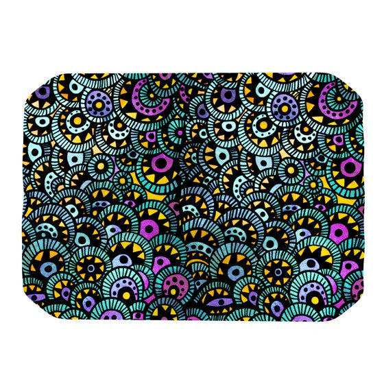 "Pom Graphic Design ""Peacock Tail"" Place Mat - KESS InHouse"