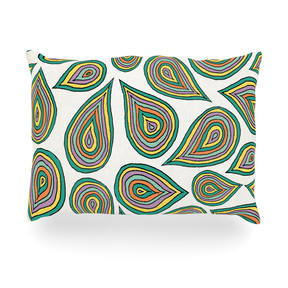 "Pom Graphic Design ""Its Raining Leaves"" Oblong Pillow - KESS InHouse"