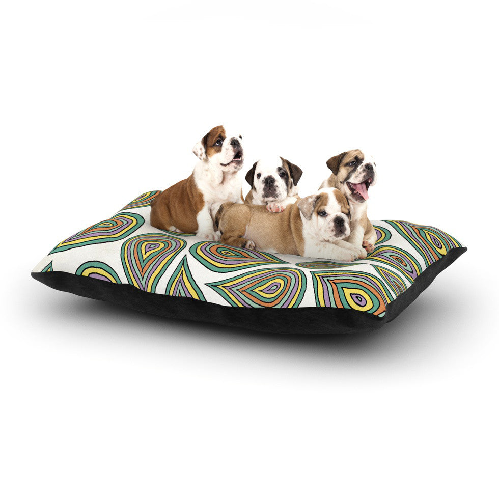 "Pom Graphic Design ""Its Raining Leaves"" Dog Bed - KESS InHouse  - 1"