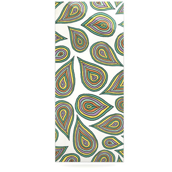 "Pom Graphic Design ""Its Raining Leaves"" Luxe Rectangle Panel - KESS InHouse  - 1"