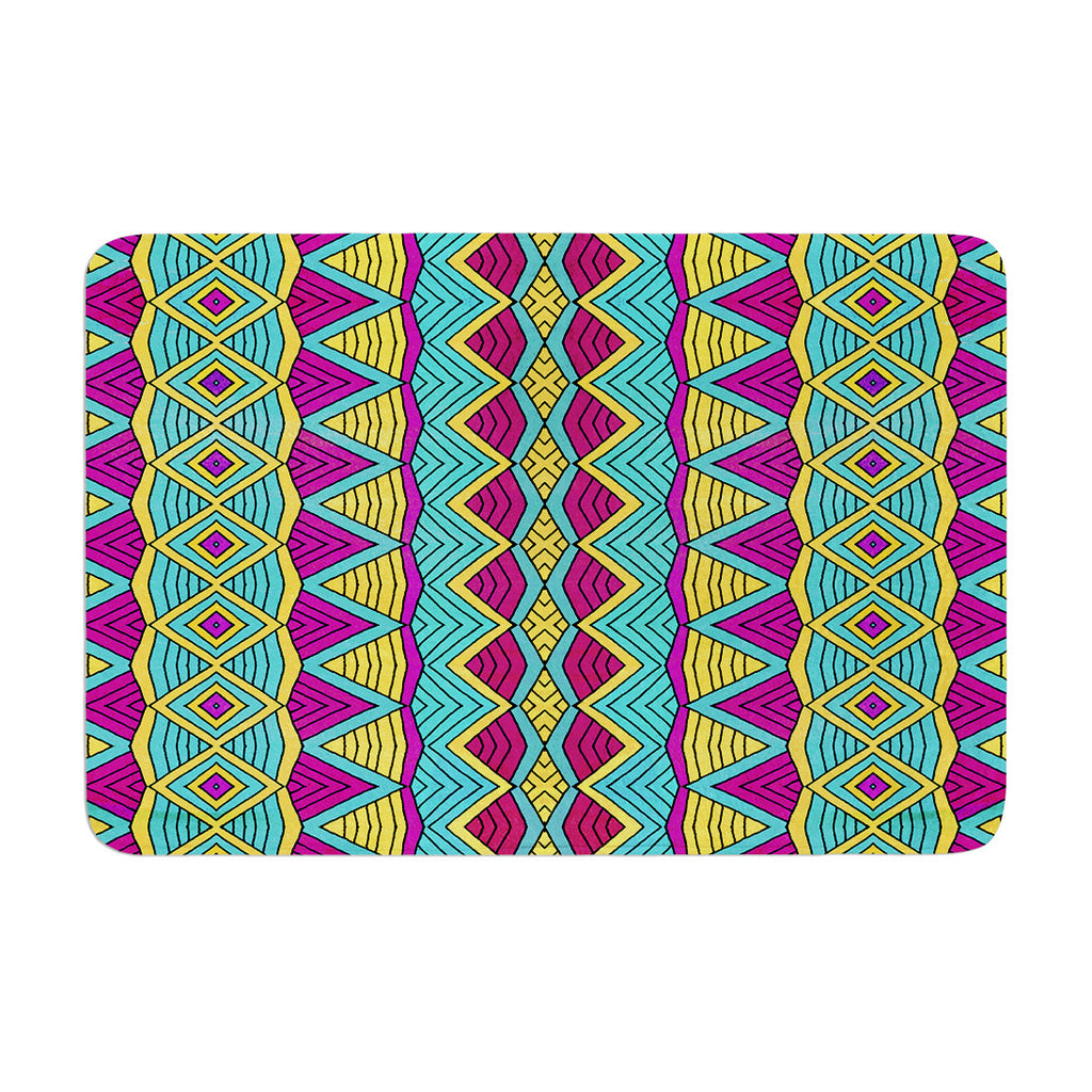 "Pom Graphic Design ""Tribal Soul II"" Memory Foam Bath Mat - KESS InHouse"