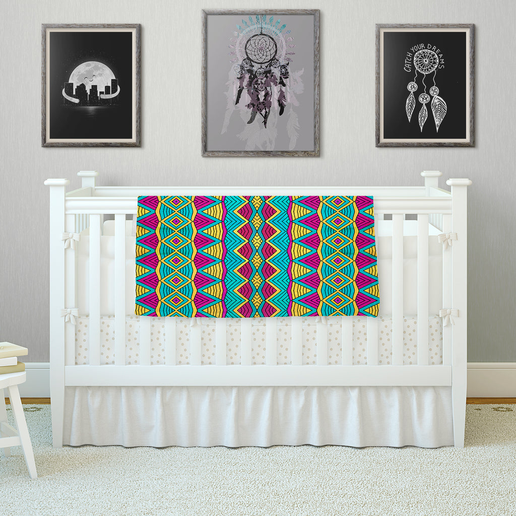 "Pom Graphic Design ""Tribal Soul II"" Fleece Throw Blanket"