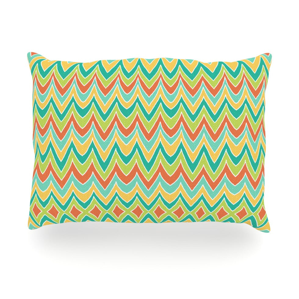 "Pom Graphic Design ""Bright and Bold"" Oblong Pillow - KESS InHouse"