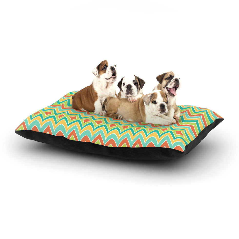 "Pom Graphic Design ""Bright and Bold"" Dog Bed - KESS InHouse  - 1"