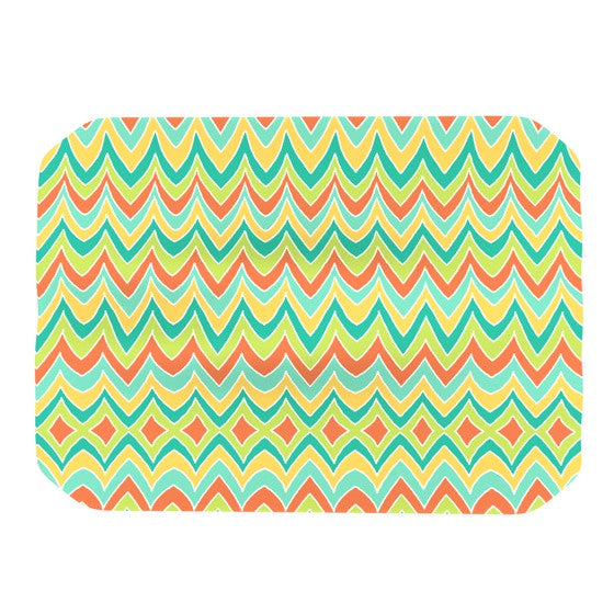 "Pom Graphic Design ""Bright and Bold"" Place Mat - KESS InHouse"