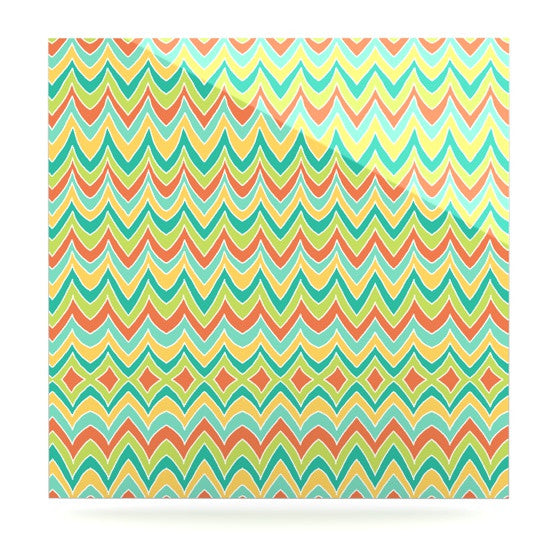 "Pom Graphic Design ""Bright and Bold"" Luxe Square Panel - KESS InHouse  - 1"