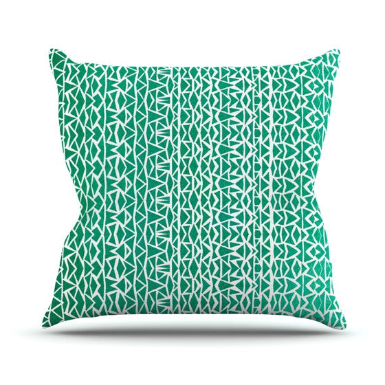 "Pom Graphic Design ""Tribal Forrest"" Throw Pillow - KESS InHouse  - 1"