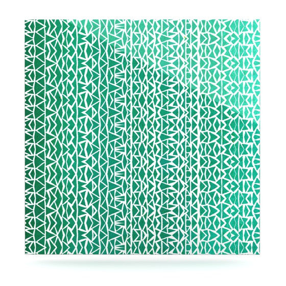 "Pom Graphic Design ""Tribal Forrest"" Luxe Square Panel - KESS InHouse  - 1"