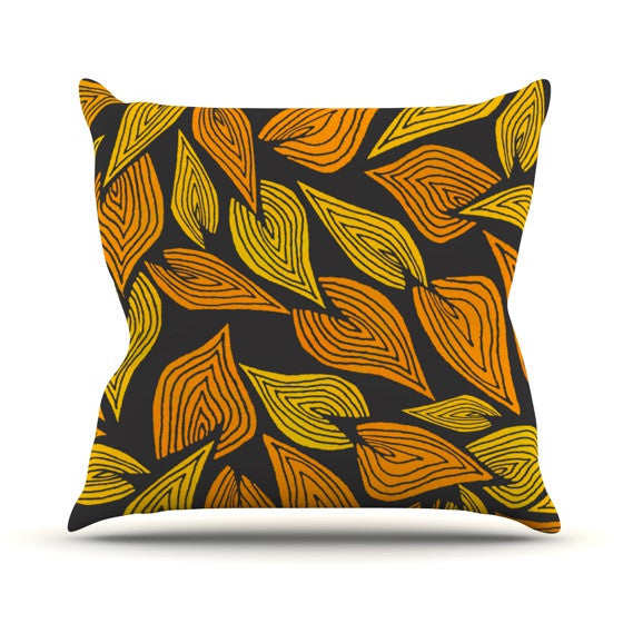 "Pom Graphic Design ""Autumn II"" Throw Pillow - KESS InHouse  - 1"