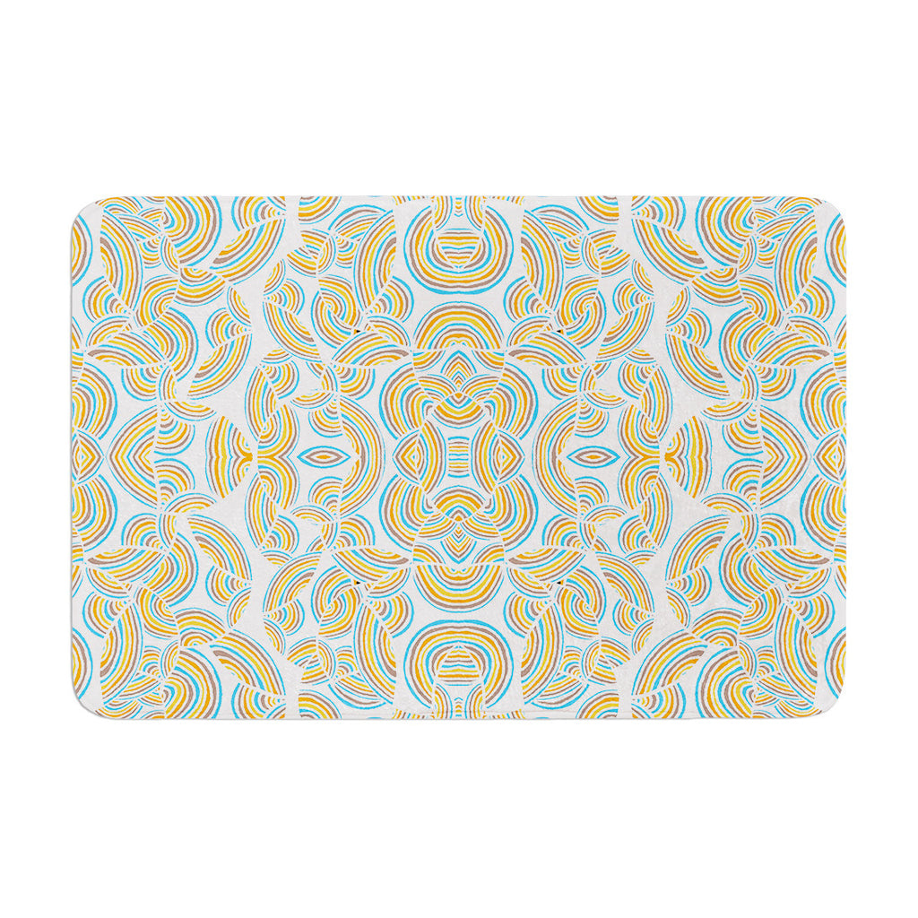 "Pom Graphic Design ""Infinite Thoughts"" Memory Foam Bath Mat - KESS InHouse"
