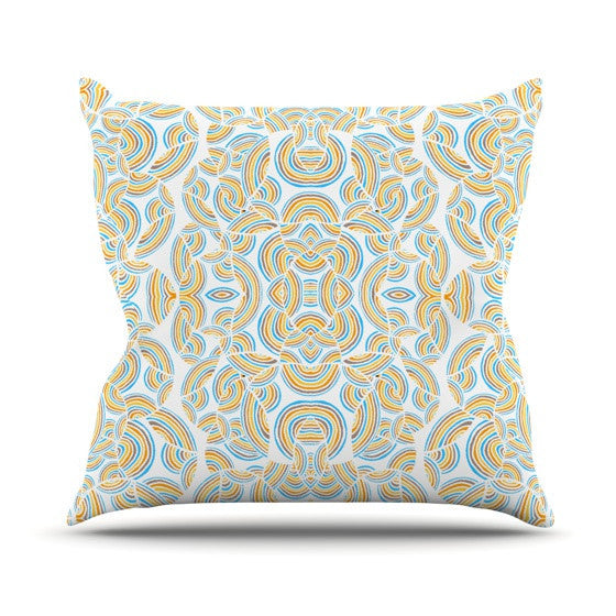 "Pom Graphic Design ""Infinite Thoughts"" Outdoor Throw Pillow - KESS InHouse  - 1"