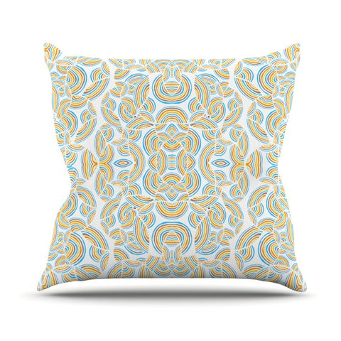 "Pom Graphic Design ""Infinite Thoughts"" Throw Pillow - KESS InHouse  - 1"