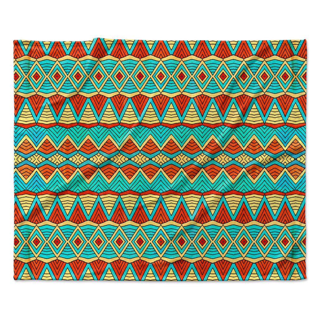 "Pom Graphic Design ""Tribal Soul"" Fleece Throw Blanket"