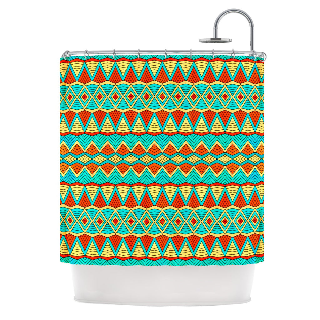 "Pom Graphic Design ""Tribal Soul"" Shower Curtain - KESS InHouse"