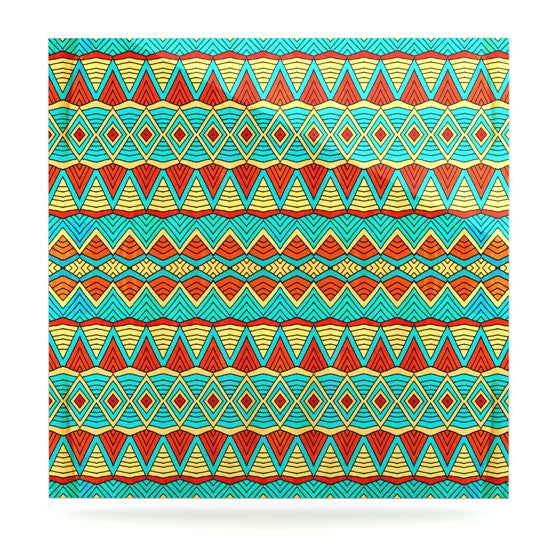"Pom Graphic Design ""Tribal Soul"" Luxe Square Panel - KESS InHouse  - 1"