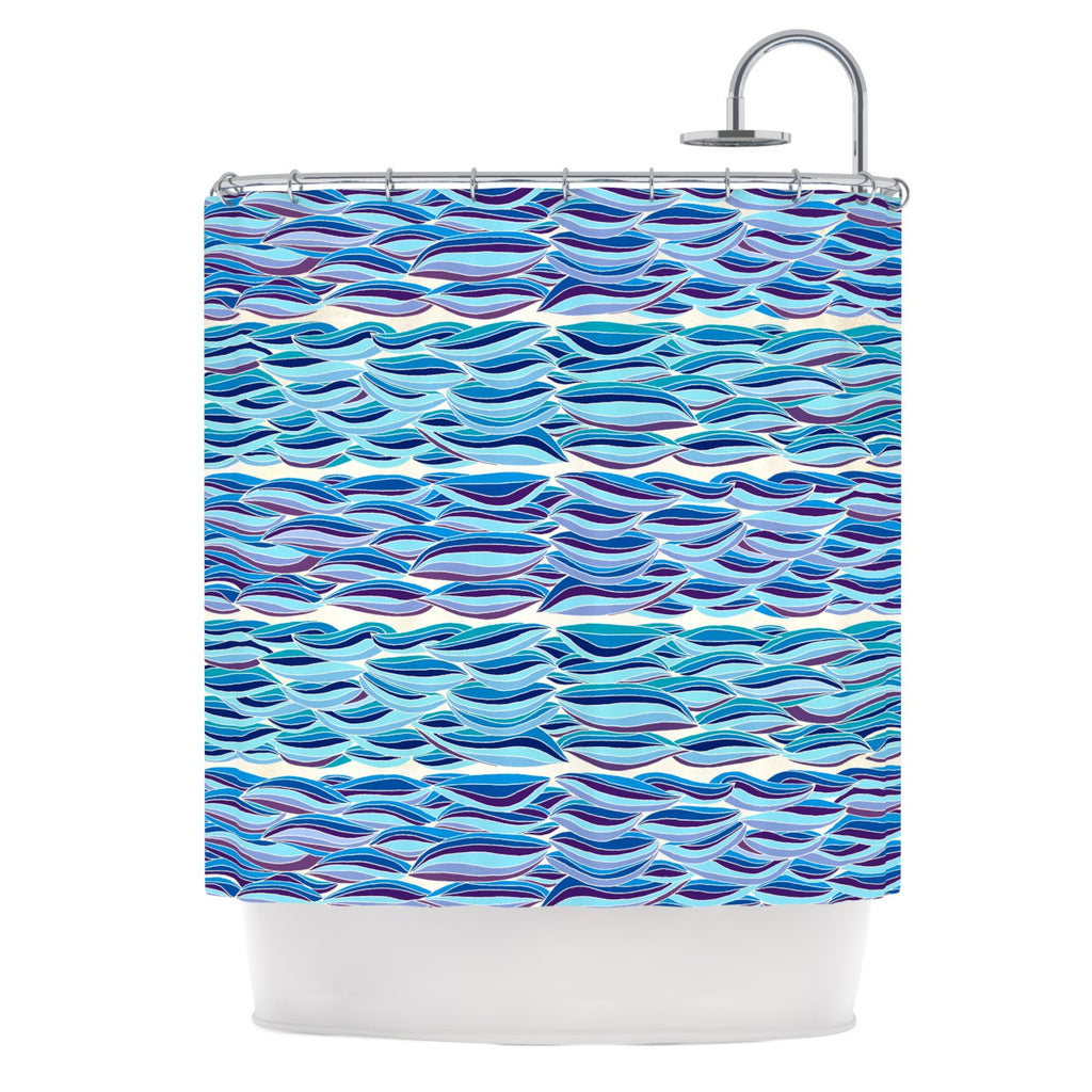 "Pom Graphic Design ""The High Sea"" Shower Curtain - KESS InHouse"