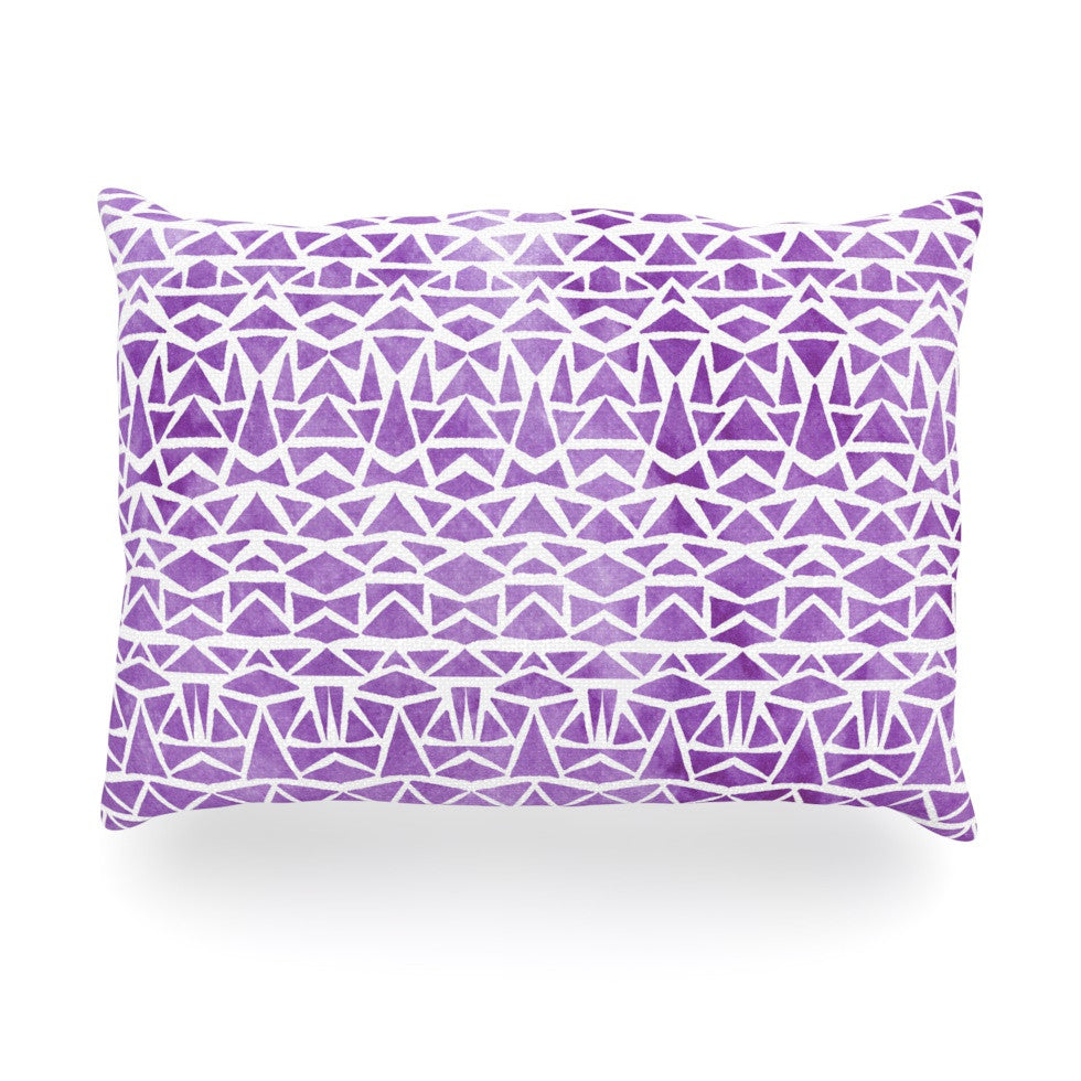 "Pom Graphic Design ""Tribal Mosaic"" Oblong Pillow - KESS InHouse"