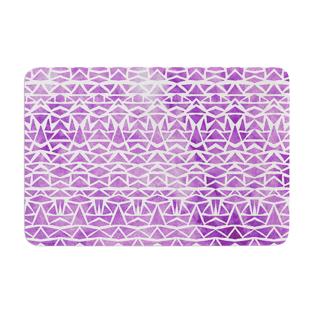 "Pom Graphic Design ""Tribal Mosaic"" Memory Foam Bath Mat - KESS InHouse"