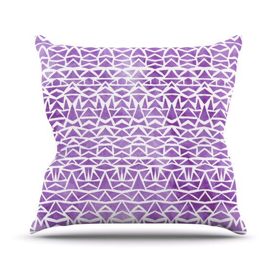 "Pom Graphic Design ""Tribal Mosaic"" Throw Pillow - KESS InHouse  - 1"