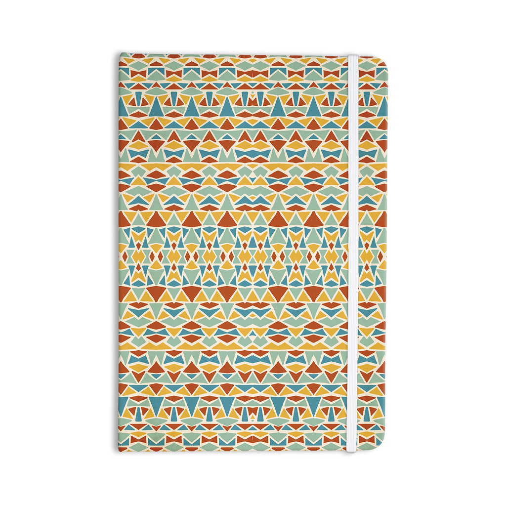 "Pom Graphic Design ""Tribal Imagination"" Red Yellow Everything Notebook - KESS InHouse  - 1"