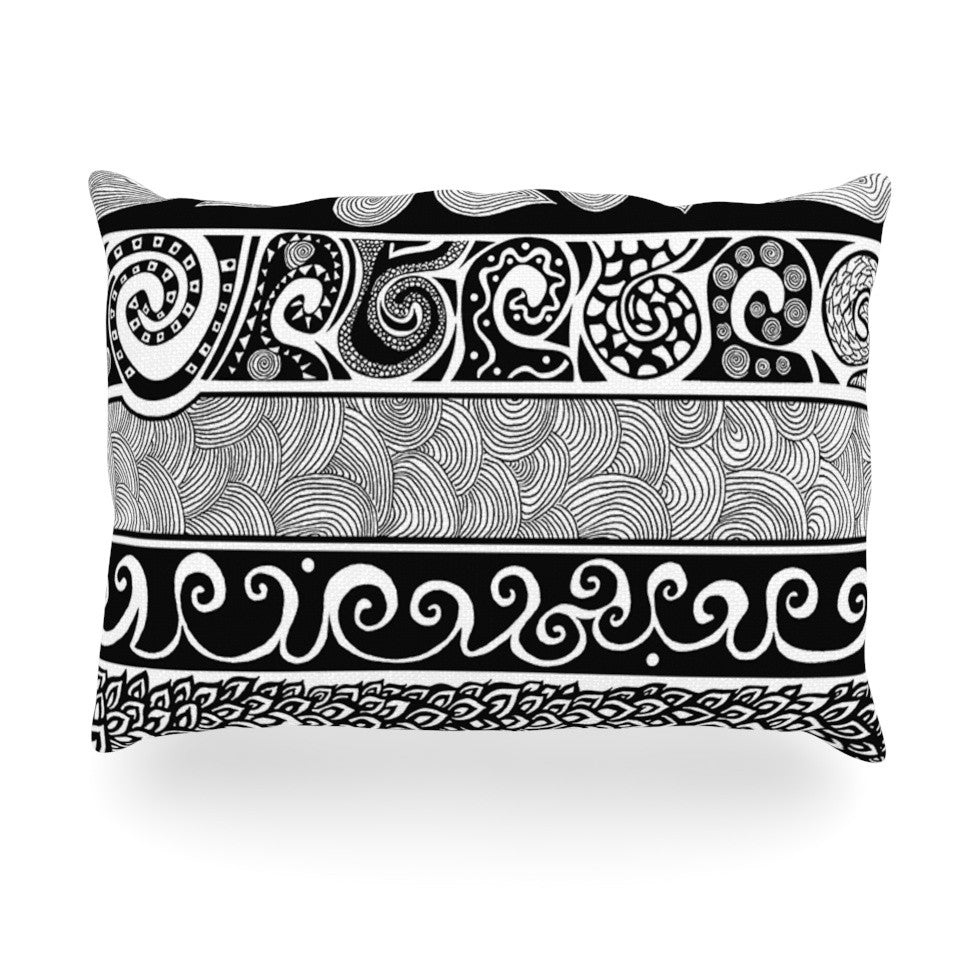 "Pom Graphic Design ""Tribal Evolution"" Oblong Pillow"