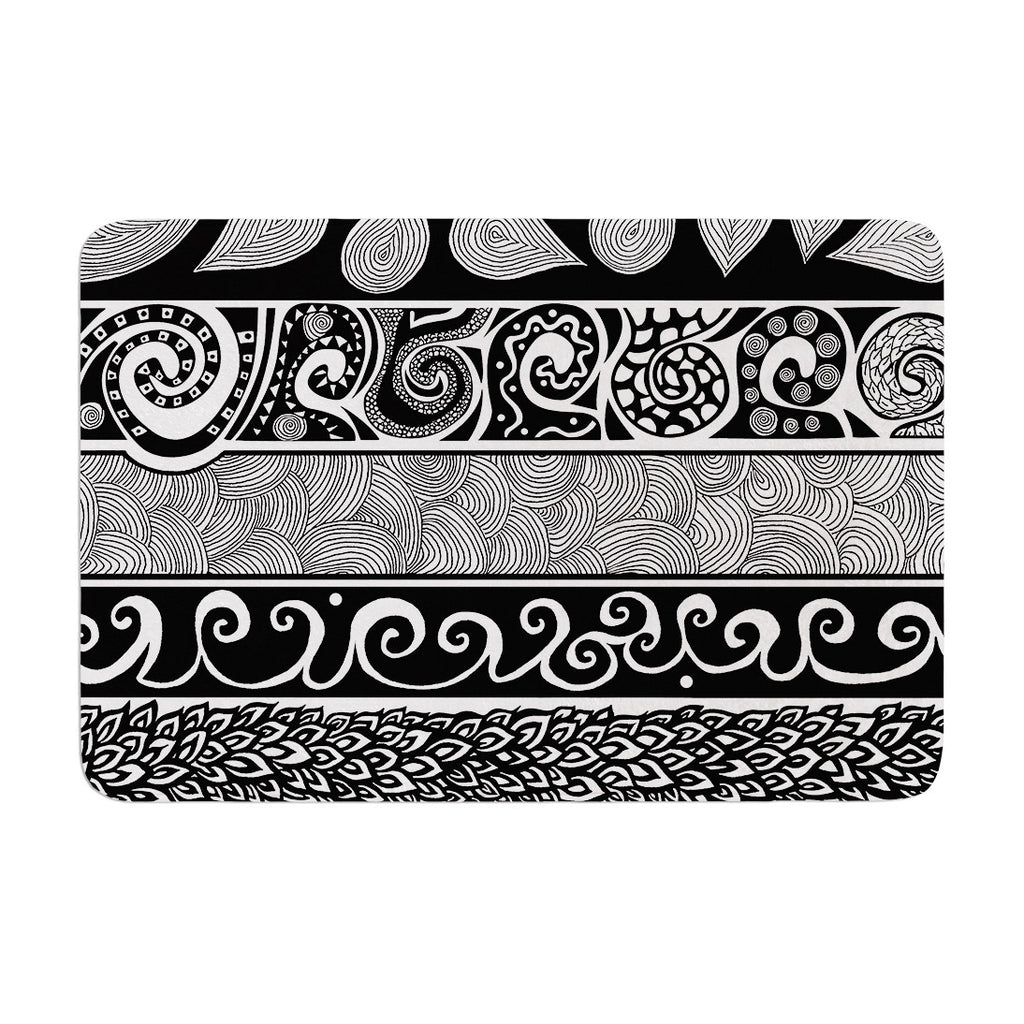 "Pom Graphic Design ""Tribal Evolution"" Memory Foam Bath Mat - KESS InHouse"