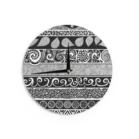 "Pom Graphic Design ""Tribal Evolution"" Wall Clock - KESS InHouse"