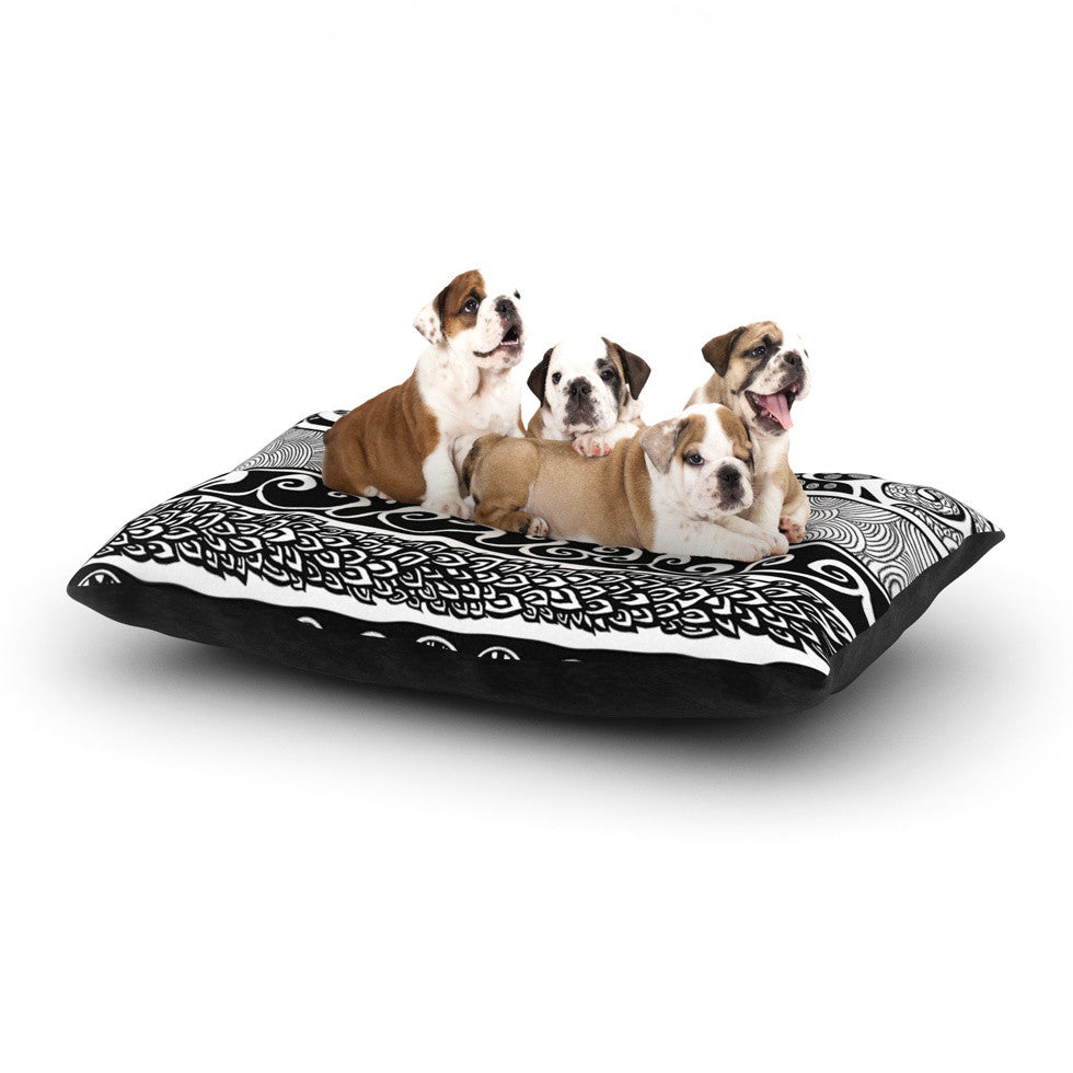 "Pom Graphic Design ""Tribal Evolution"" Dog Bed - KESS InHouse  - 1"
