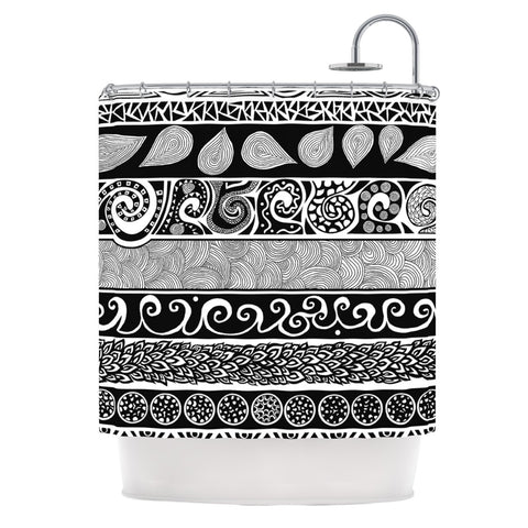 "Pom Graphic Design ""Tribal Evolution"" Shower Curtain - KESS InHouse"
