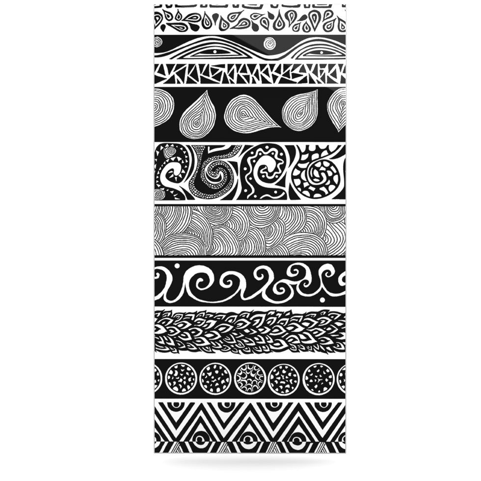 "Pom Graphic Design ""Tribal Evolution"" Luxe Rectangle Panel - KESS InHouse  - 1"