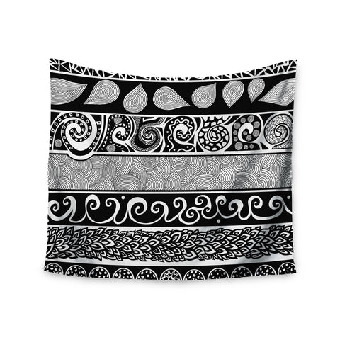 "Pom Graphic Design ""Tribal Evolution"" Wall Tapestry - KESS InHouse  - 1"