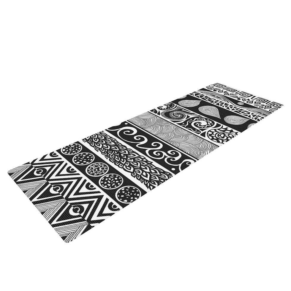 "Pom Graphic Design ""Tribal Evolution"" Yoga Mat - KESS InHouse  - 1"