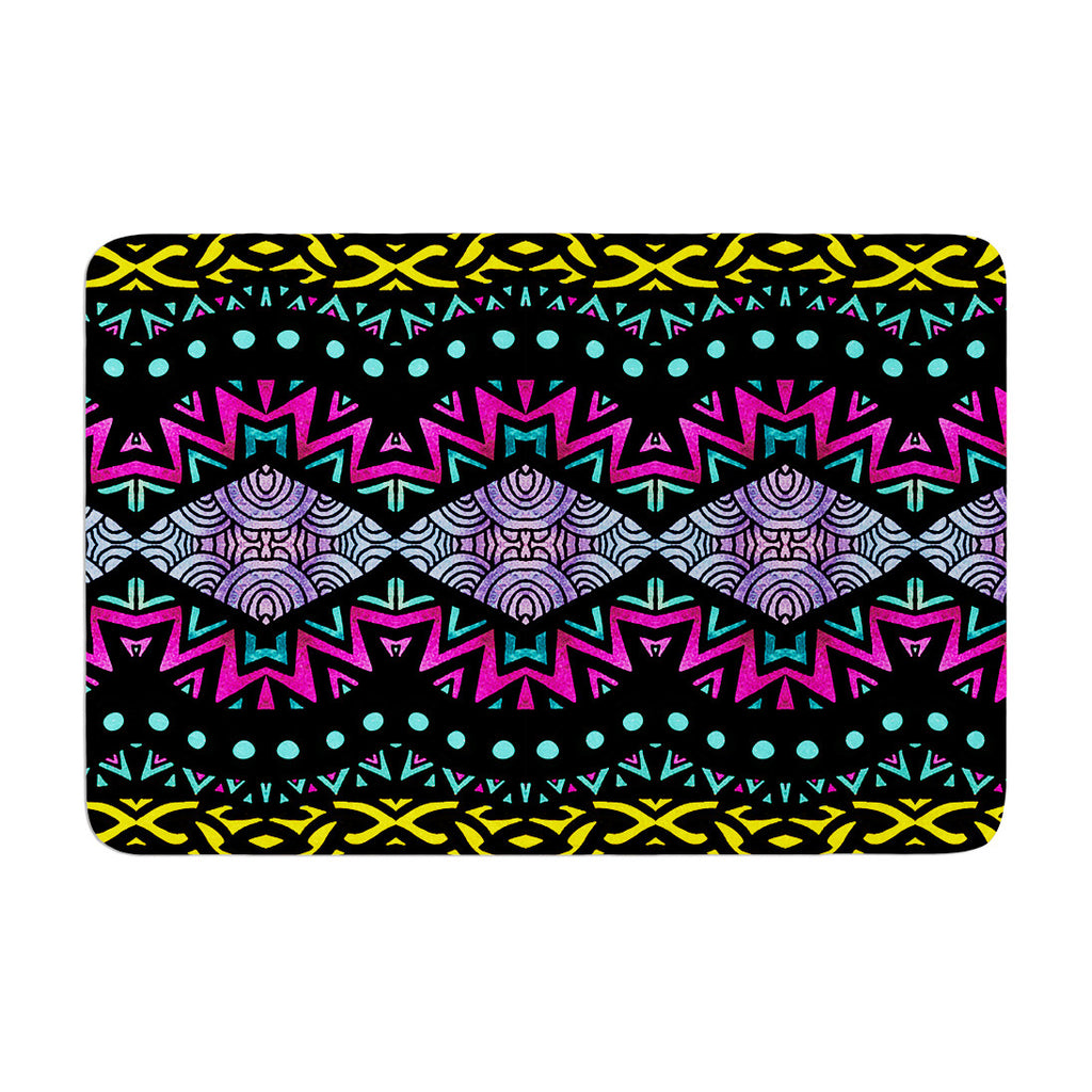 "Pom Graphic Design ""Tribal Dominance"" Memory Foam Bath Mat - KESS InHouse"