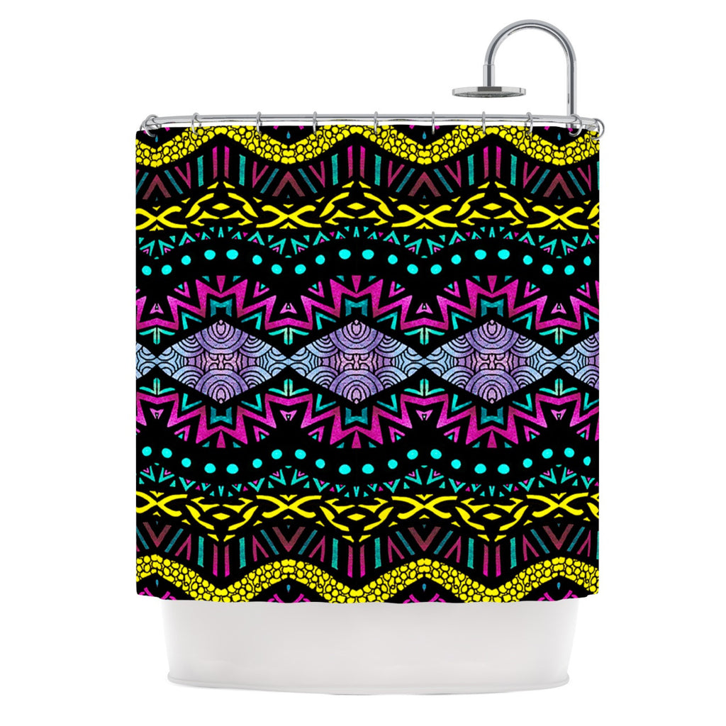 "Pom Graphic Design ""Tribal Dominance"" Shower Curtain - KESS InHouse"