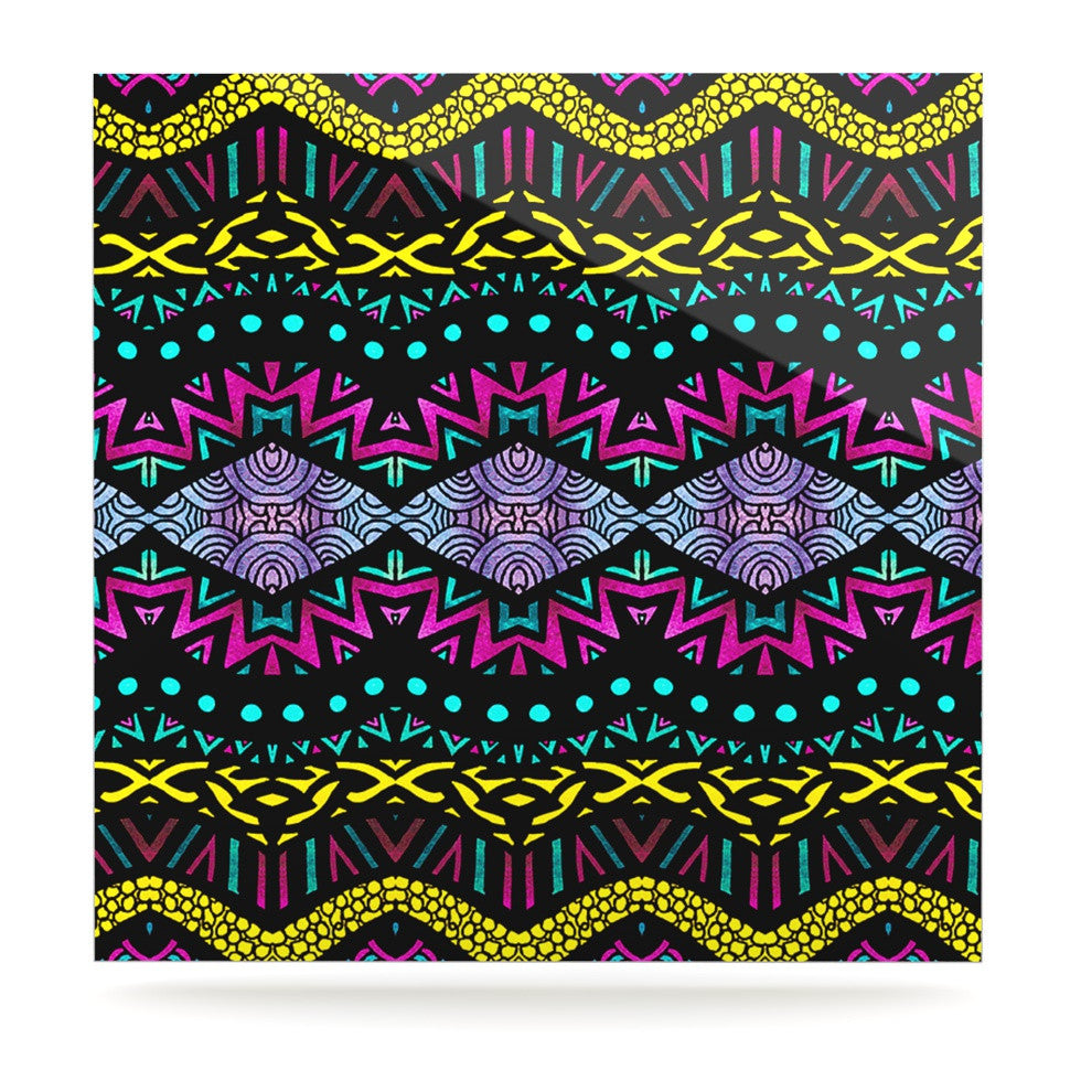 "Pom Graphic Design ""Tribal Dominance"" Luxe Square Panel - KESS InHouse  - 1"