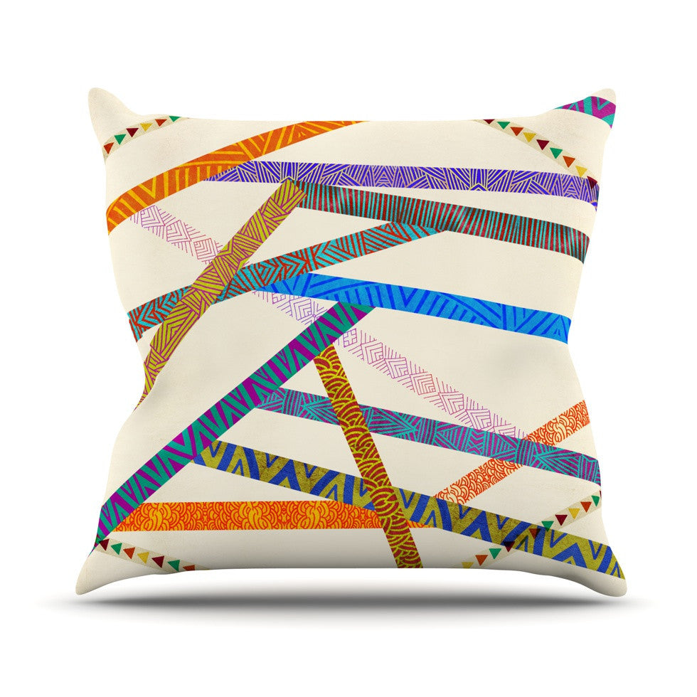 "Pom Graphic Design ""Unparalleled"" Outdoor Throw Pillow - KESS InHouse  - 1"