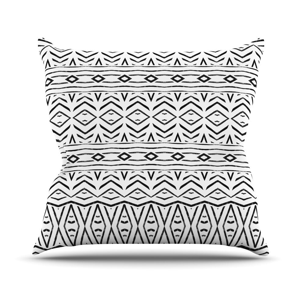 "Pom Graphic Design ""Tambourine"" Throw Pillow - KESS InHouse  - 1"