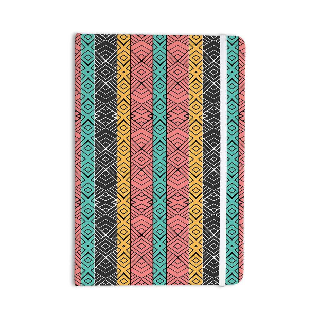 "Pom Graphic Design ""Artisian"" Pink Teal Everything Notebook - KESS InHouse  - 1"