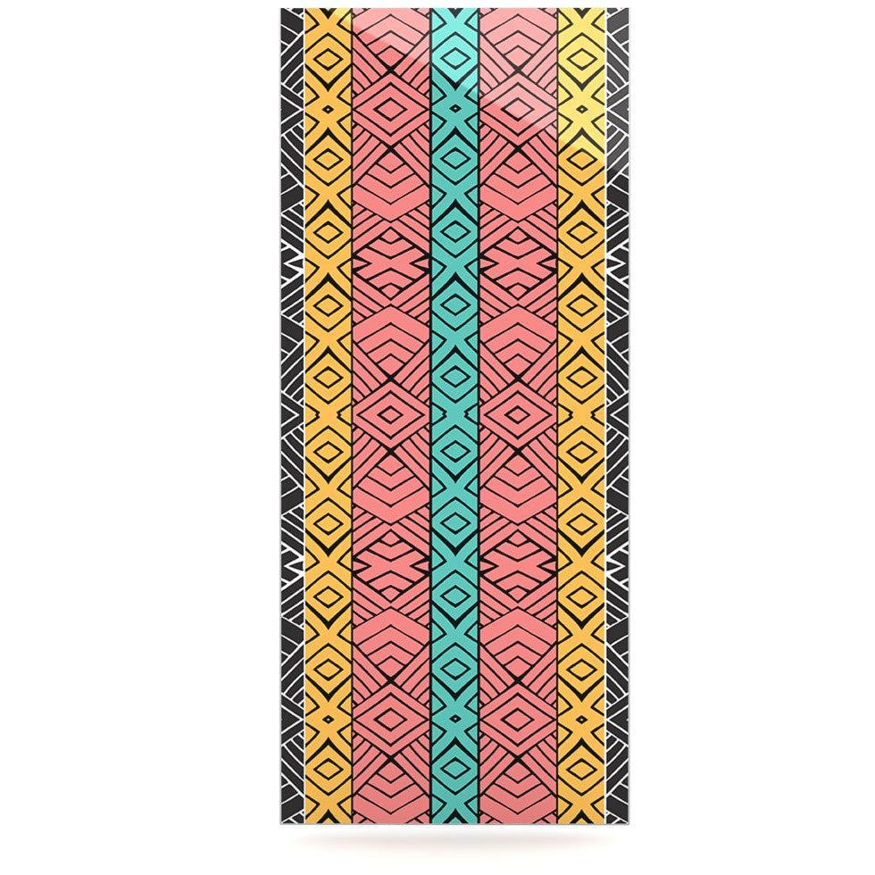 "Pom Graphic Design ""Artisian"" Pink Teal Luxe Rectangle Panel - KESS InHouse  - 1"