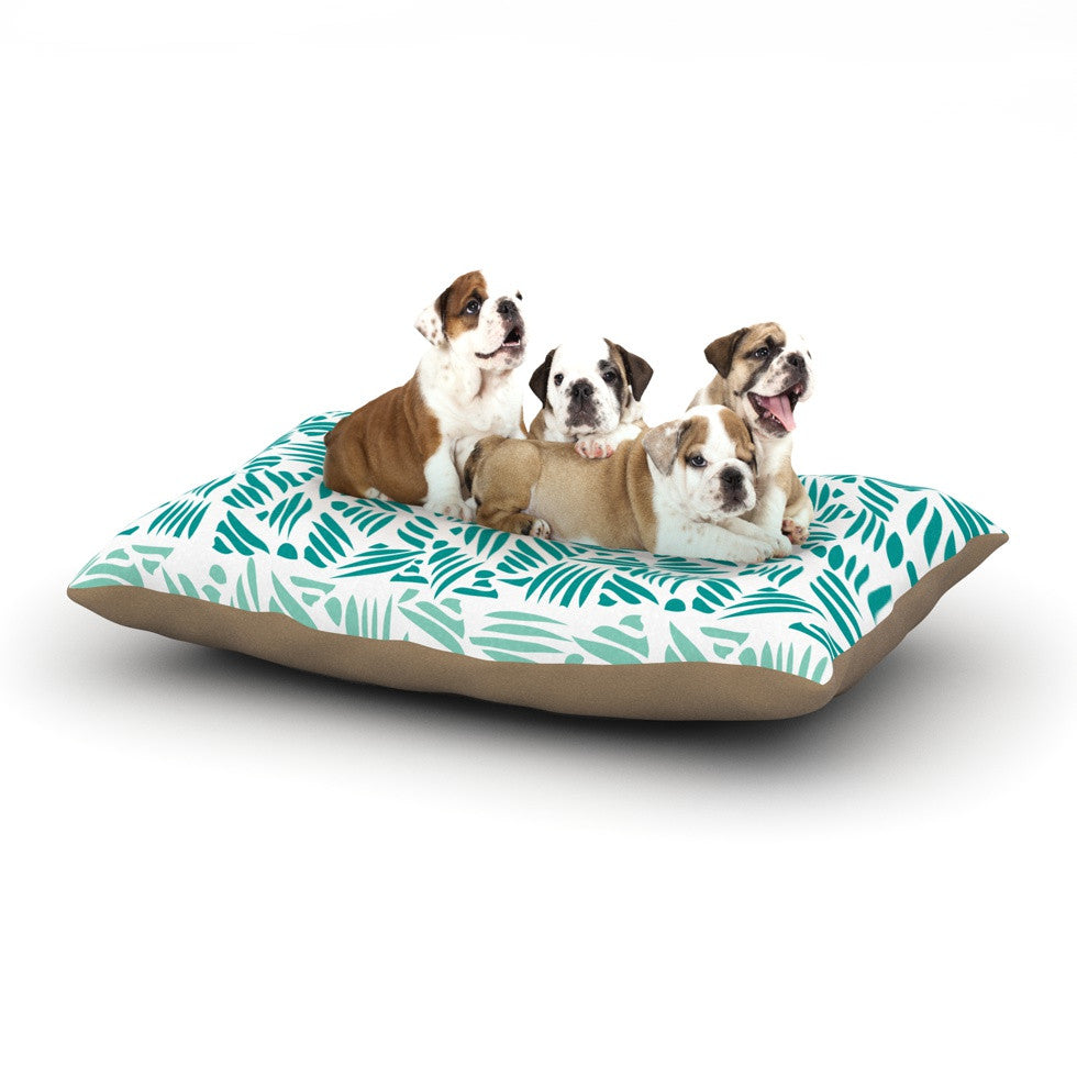 "Pom Graphic Design ""Bamboo"" Teal Green Dog Bed - KESS InHouse  - 1"