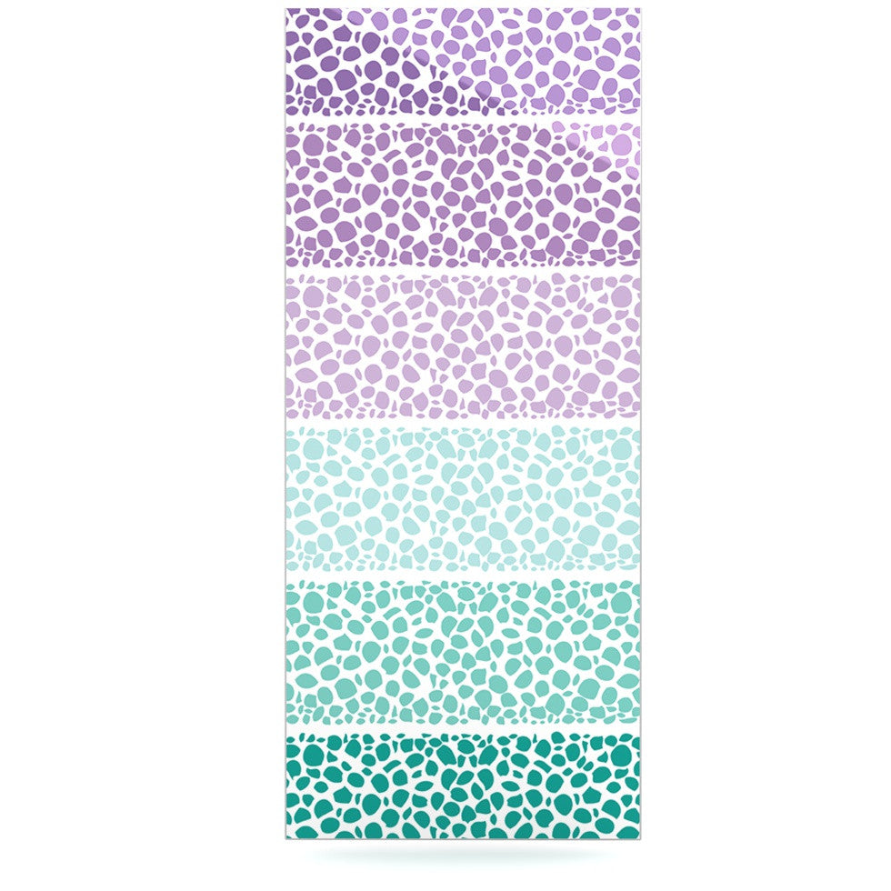 "Pom Graphic Design ""Riverside Pebbles Colored"" Purple Teal Luxe Rectangle Panel - KESS InHouse  - 1"