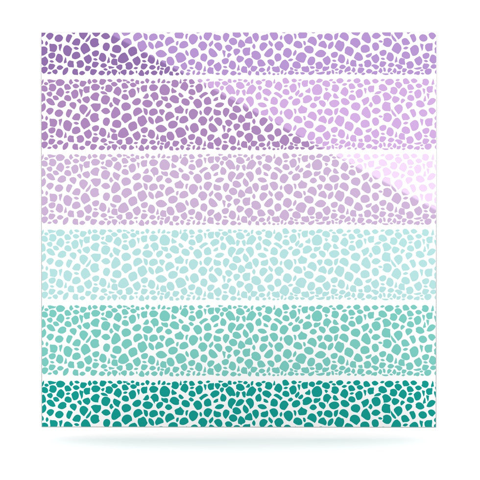 "Pom Graphic Design ""Riverside Pebbles Colored"" Purple Teal Luxe Square Panel - KESS InHouse  - 1"