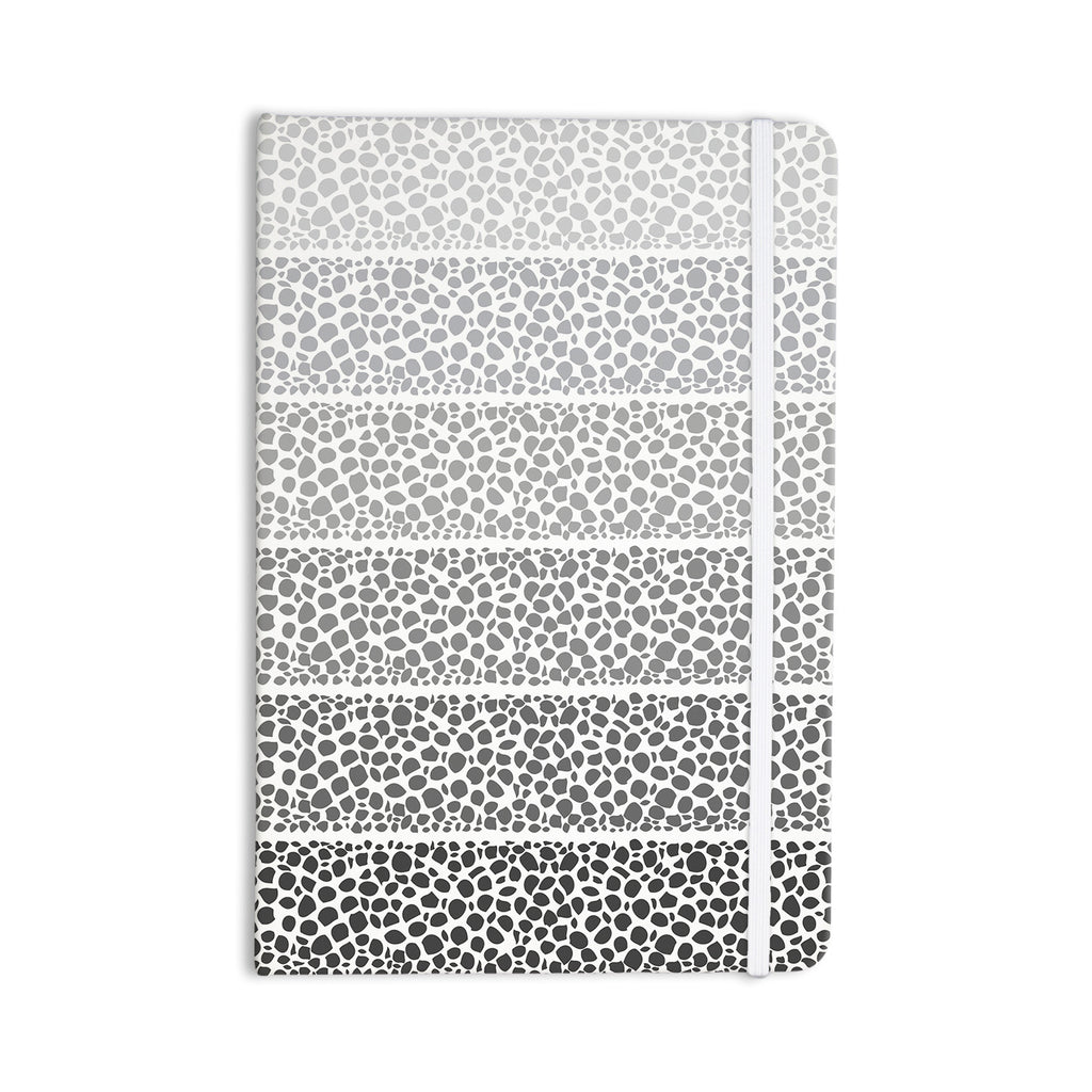 "Pom Graphic Design ""Riverside Pebbles"" Gray White Everything Notebook - KESS InHouse  - 1"
