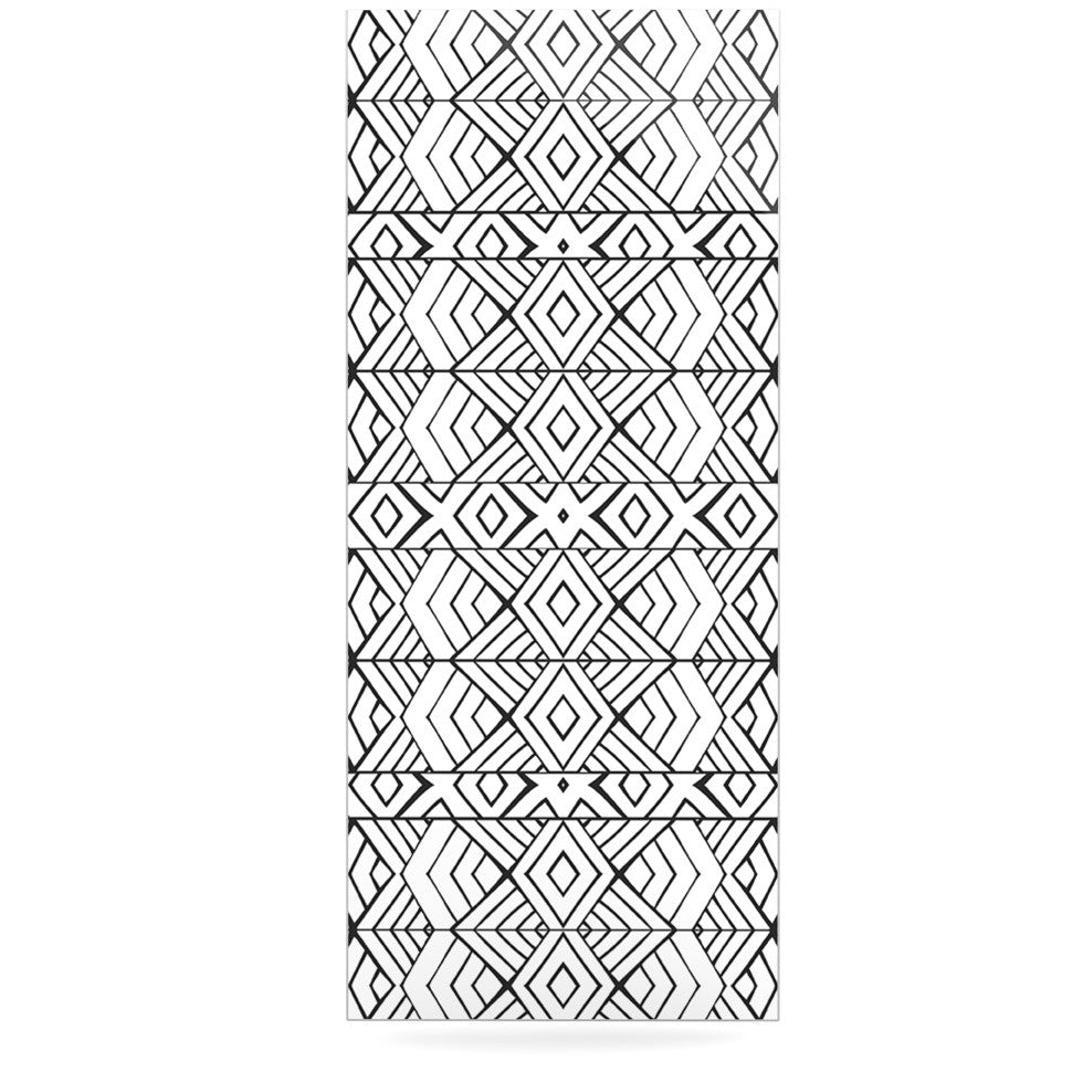 "Pom Graphic Design ""Tribal Expression"" Black White Luxe Rectangle Panel - KESS InHouse  - 1"