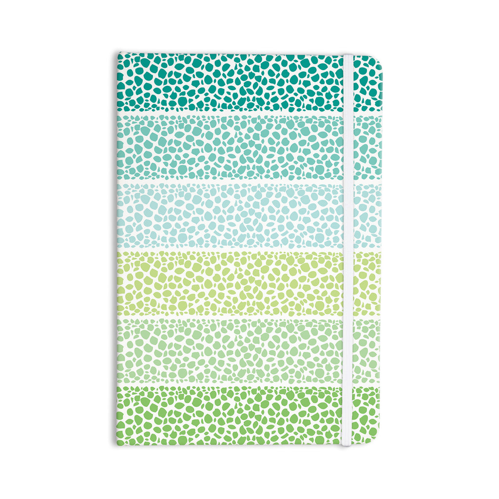 "Pom Graphic Design ""Zen Pebbles"" Green Teal Everything Notebook - KESS InHouse  - 1"