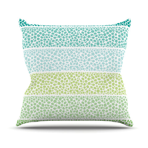"Pom Graphic Design ""Zen Pebbles"" Green Teal Outdoor Throw Pillow - Outlet Item"