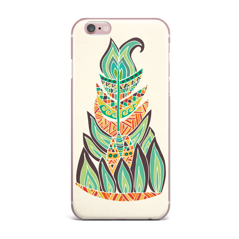"Pom Graphic Design ""Tribal Feather"" Green Orange iPhone Case - KESS InHouse"